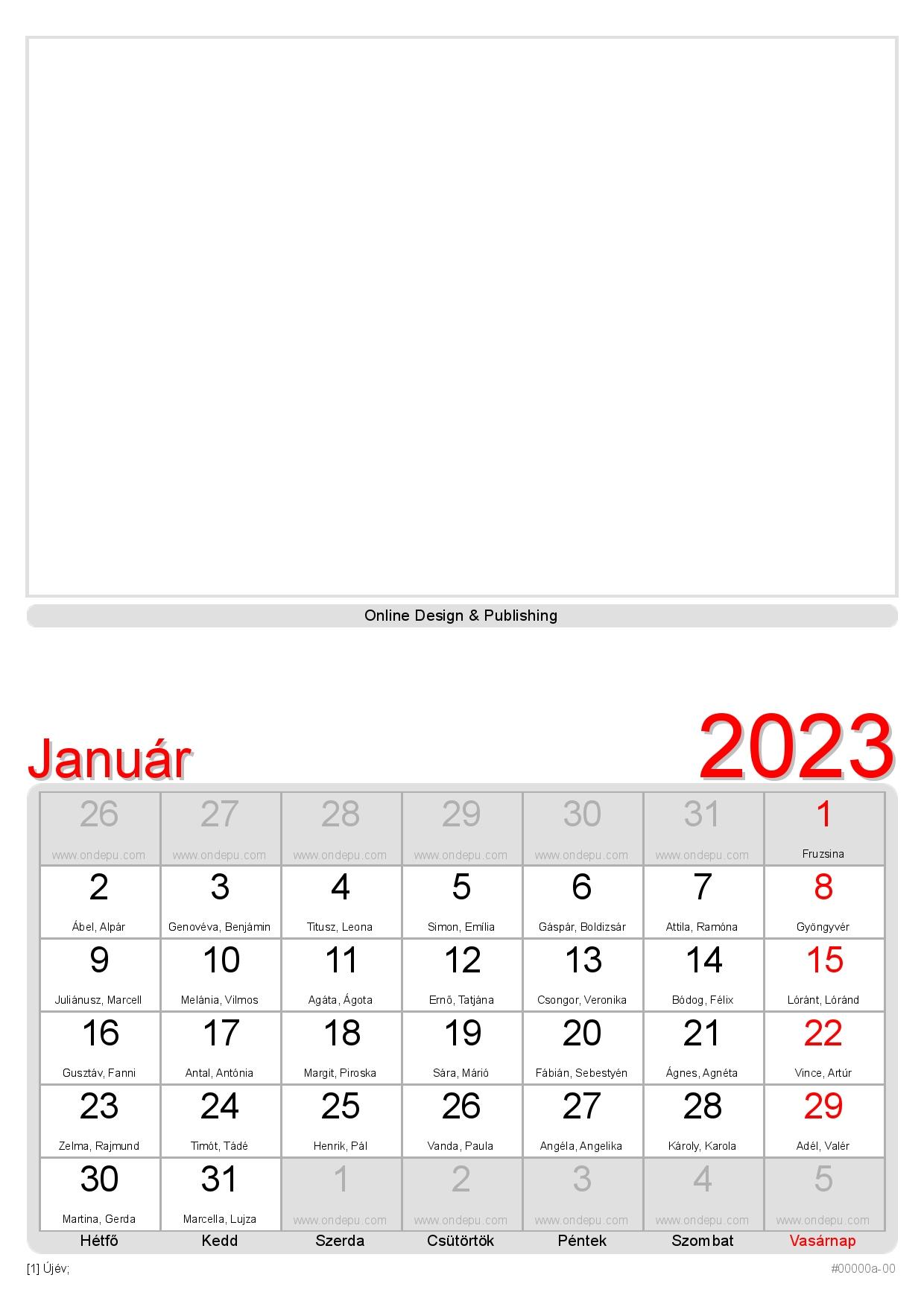 naptár névnapokkal 2019 ONDEPU | Nemzetközi naptárszerkesztő naptár névnapokkal 2019