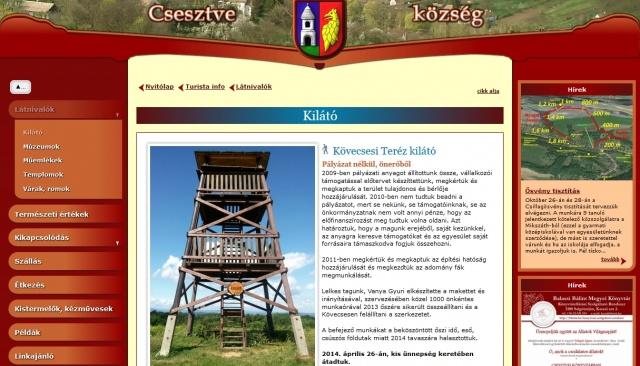 Csesztve village